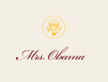 Mrs. Obama Place Card