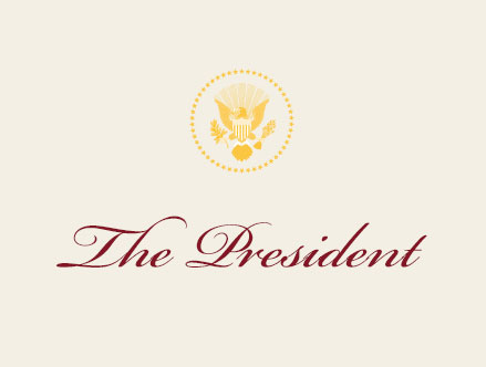 The President Place Card